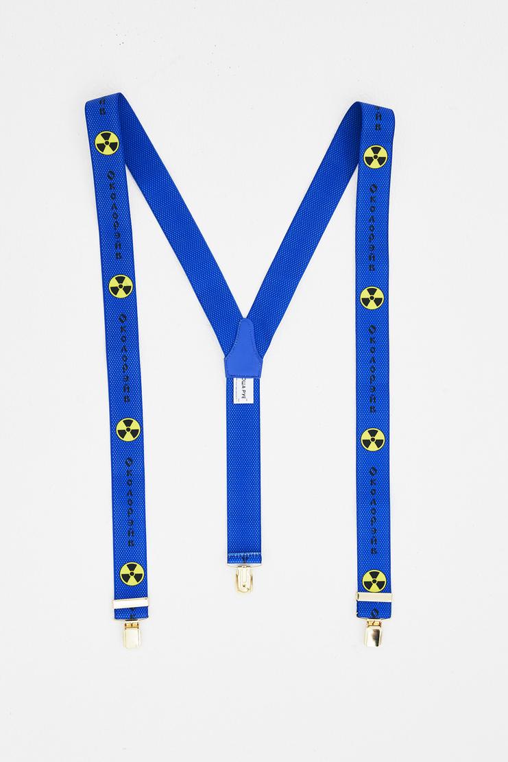 Gosha Rubchinskiy Blue Printed Suspenders new arrivals spring summer S/S 18 collection SHOWstudio Machine A mens belts G012BT01