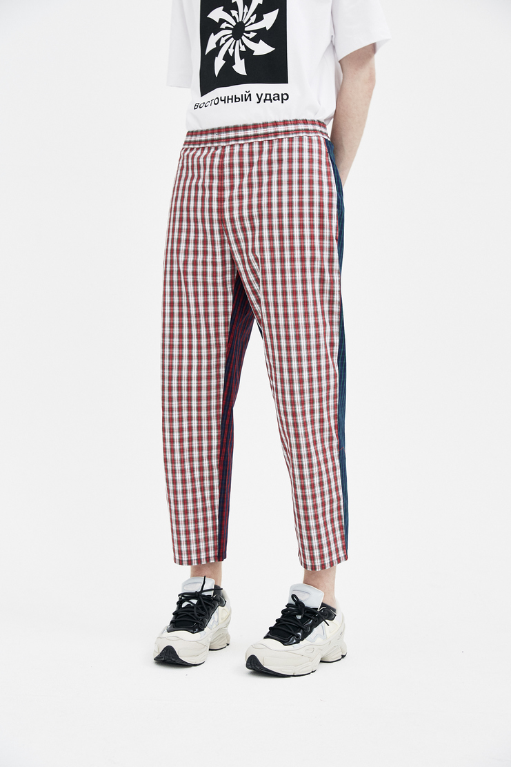 Gosha Rubchinskiy Green Combo Check Trousers new arrivals S/S 18 spirng summer collection machine A SHOWstudio G012P007 mens