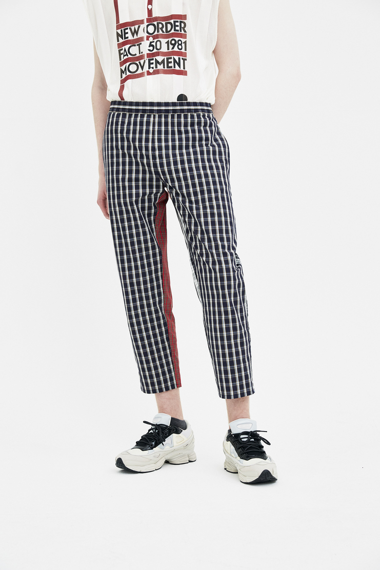 Gosha Rubchinskiy Brown Combo Check Trousers new arrivals S/S 18 spirng summer collection machine A SHOWstudio G012P007 mens