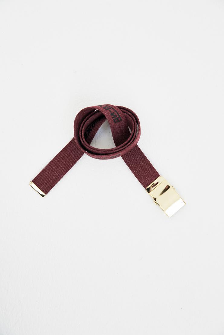 Gosha Rubchinskiy Burgundy Army Belt spring summer S/S 18 collection new arrivals military belts Machine A SHOWstudio mens adidas G012SB02