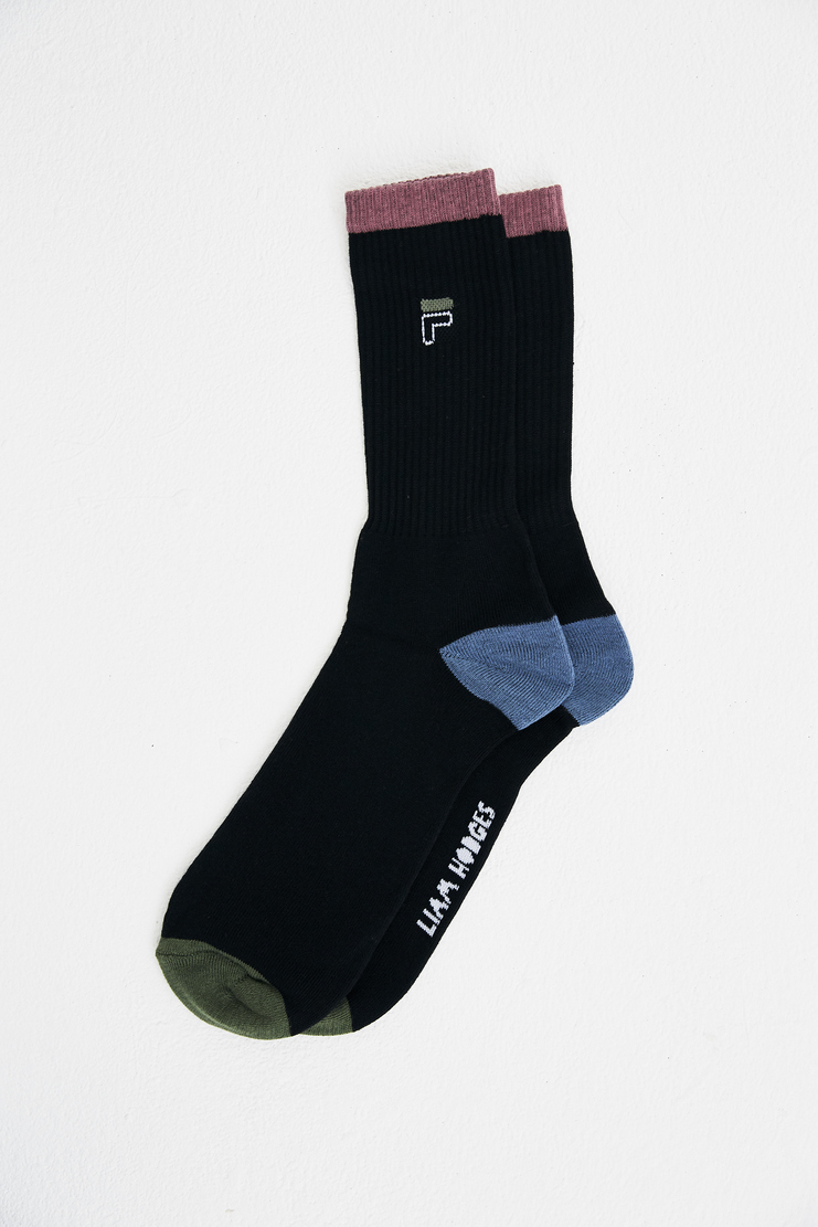 Liam Hodges x Fila Black LH1 Socks LHF-SS18-308 spring summer S/S 18 collection new arrivals Machine A SHOWstudio socks accessories sportswear