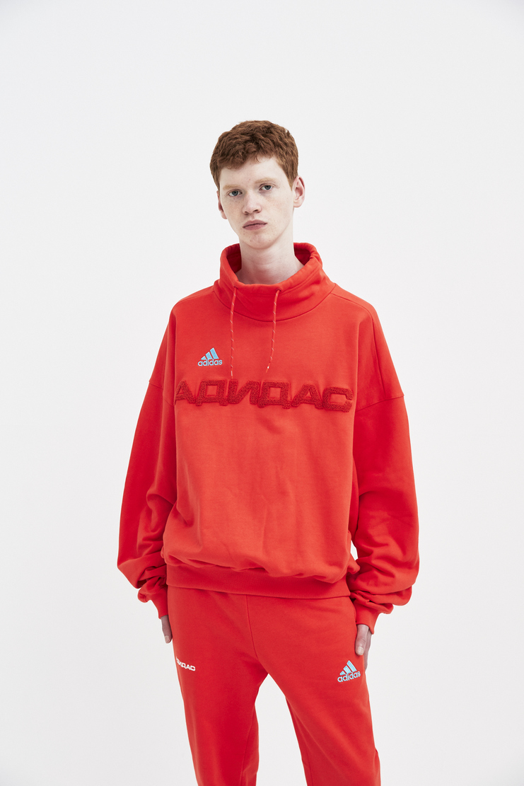 Adidas x Gosha Rubchinskiy Red Sweat Top spring summer S/S 18 collection new arrivals mens Machine A SHOWstudio G012T104