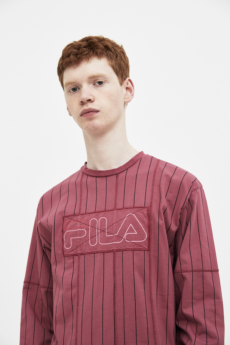 Liam Hodges x Fila Burgundy Long Sleeves Top LHF-SS18-303 spring summer S/S 18 collection new arrivals mens polo Machine A SHOWstudio