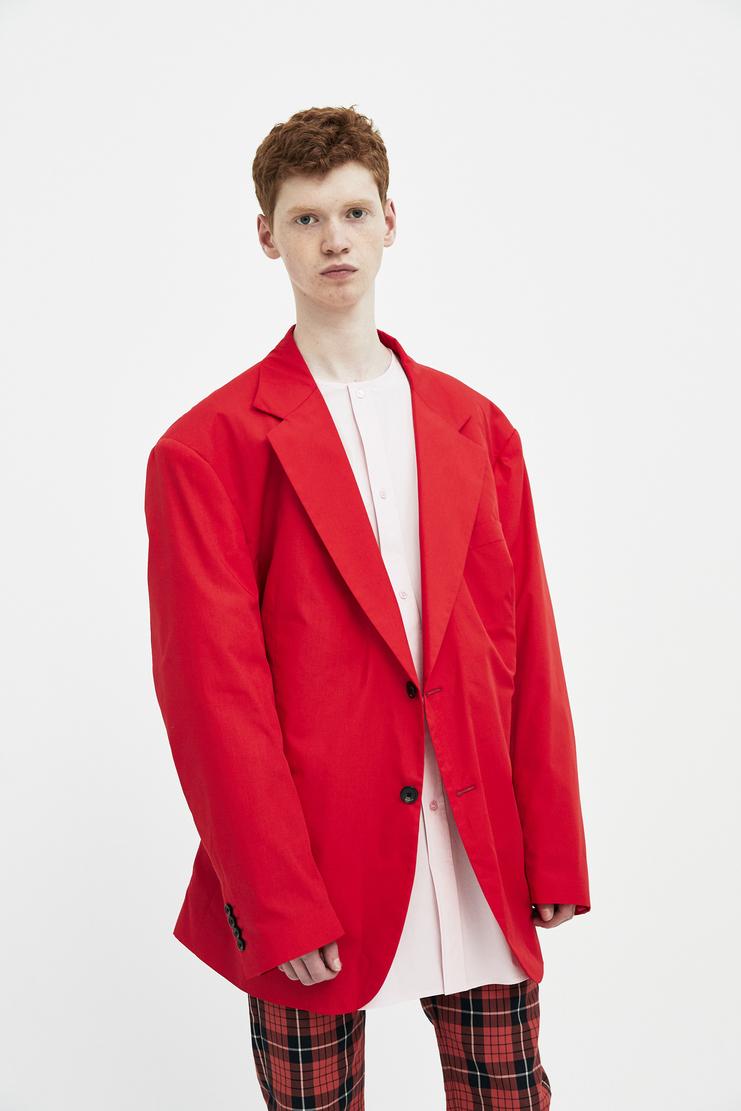 Raf simons Red oversized blazer showstuido machine a S/S18 new arrivals spring summer oversized blazer red men 181-526-15010-0030
