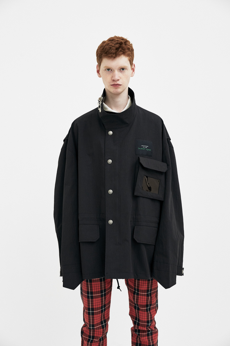 Raf Simons Black Short Parka machine a showstudio s/s 18 spring summer 18