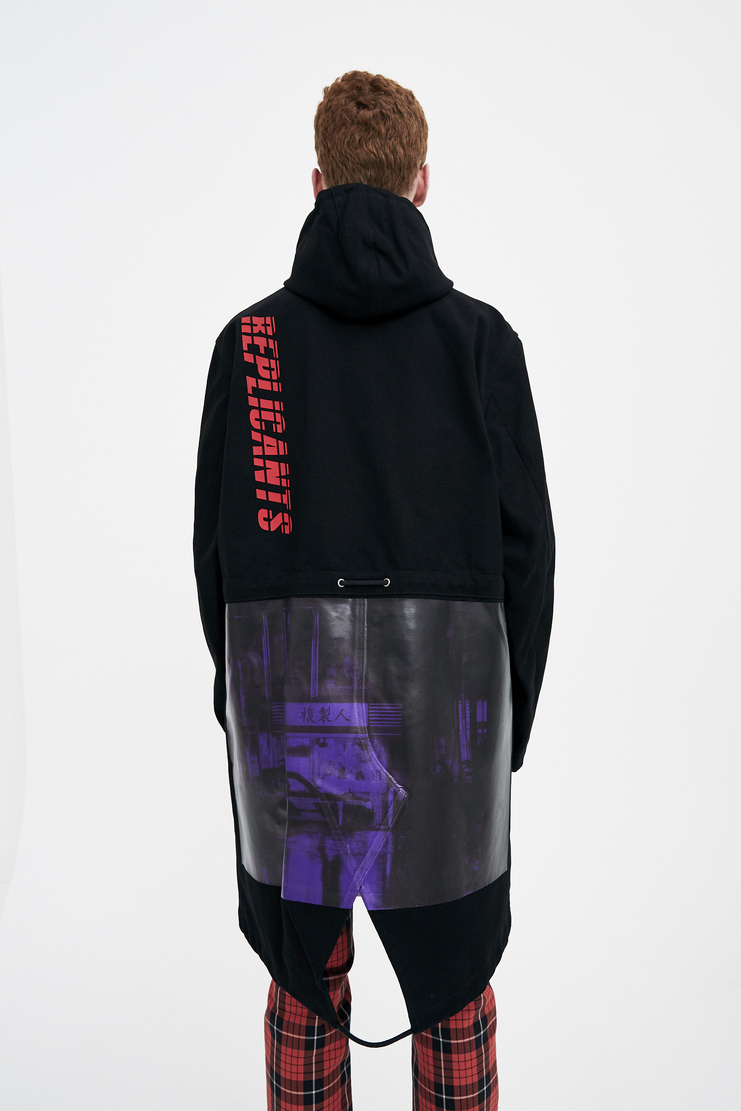 Raf Simons Black Fishtail Parka with a Print machine a showstudio s/s 18 spring summer 18