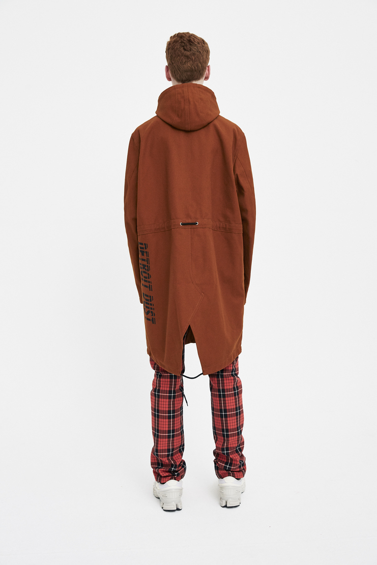 Raf Simons Cognac Fishtail Parka with a Print machine a showstudio s/s 18 spring summer 18