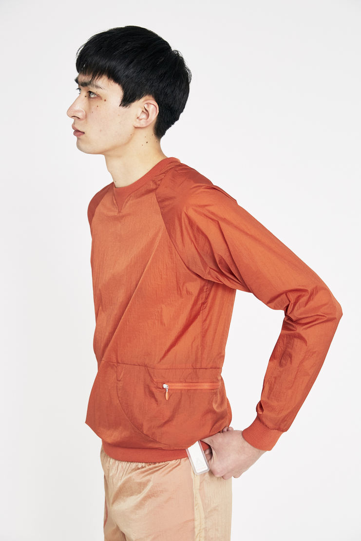 Reebok x Cottweiler Orange Crinkle Woven Crew Top new arrivals spring summer S/S 18 collection CZ1639 collaboration sportswear top mens