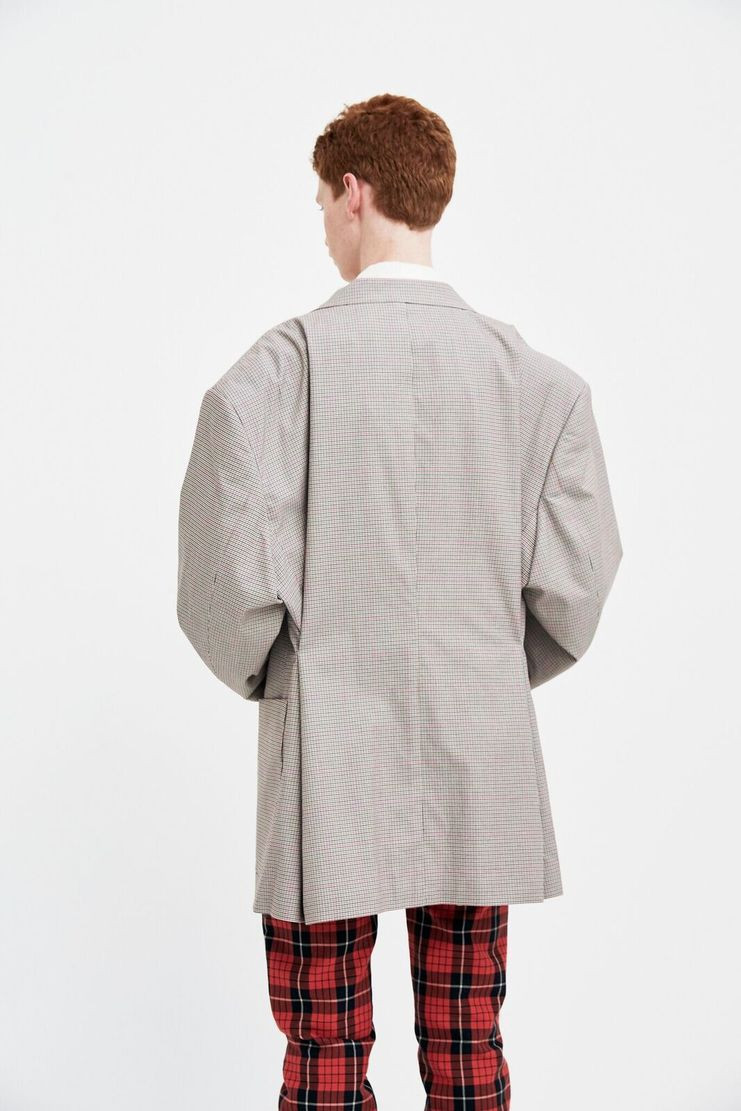 Raf Simons Sand Micro check Blazer S/S 18 spring summer machine a show studio new arrivals mens  181-527-20013-00061