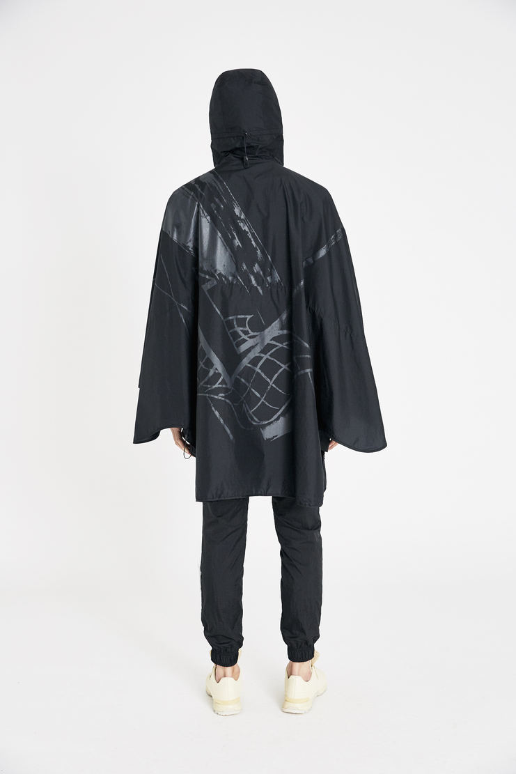 Reebok x Cottweiler Black Woven Poncho jacket new arrivals spring summer S/S 18 collection CZ1656 collaboration sportswear jackets mens
