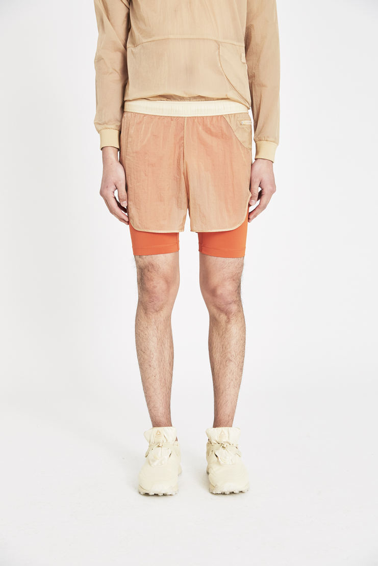 Reebok x Cottweiler Beige and Orange Woven Shorts new arrivals spring summer S/S 18 collection CZ1640 collaboration sportswear trousers pants mens