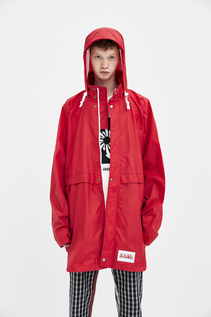 Napapijri x Martine Rose Red Rainforest Alpha Jacket new arrivals Machine A SHOWstudio mens jackets N0YHHW zip parka napa