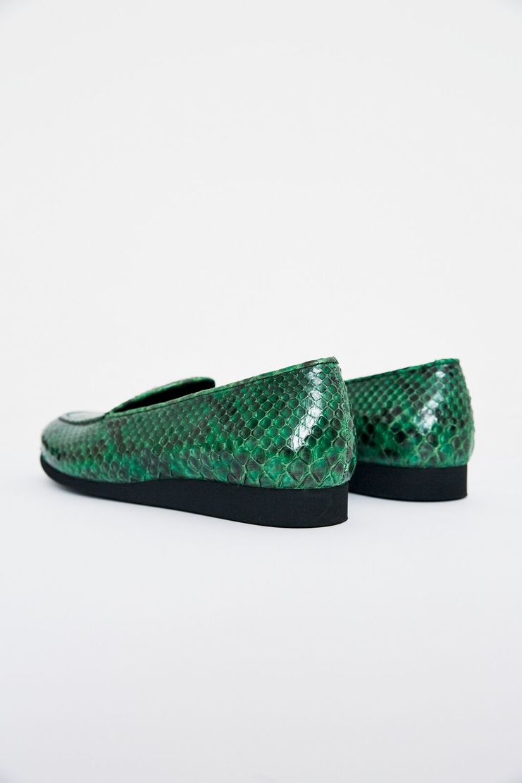 ALYX green Adler Loafer shoes snakeskin lighter cap leather stack sole womens fashion footwear showstudio machine a