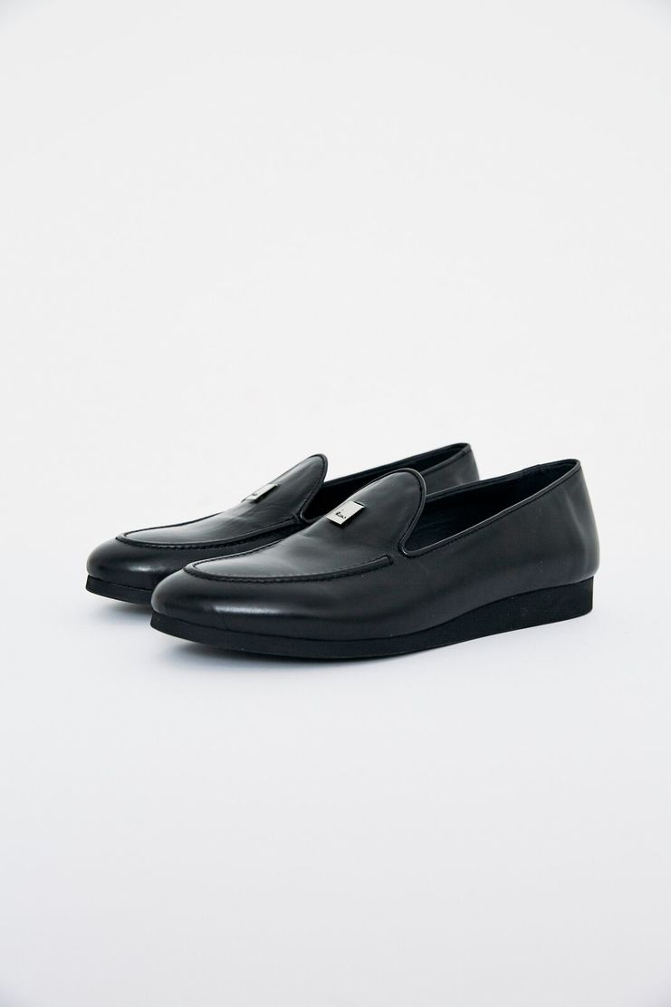 ALYX Black Adler Loafer AAWLO0005 shoes lighter cap leather stack sole womens fashion footwear showstudio machine a
