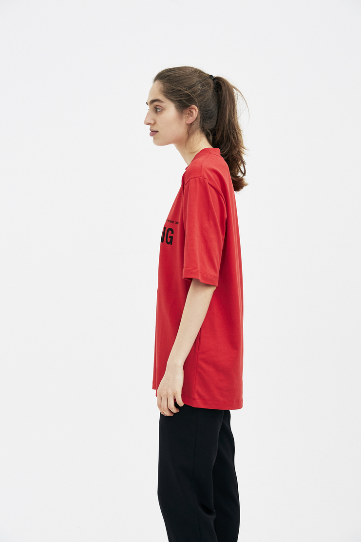 Helmut Lang by Shayne Oliver Red Printed T-shirt spring summer S/S 18 collection new arrivals Machine A SHOWstudio H10UW521 womens t-shirt tshirt tee prints