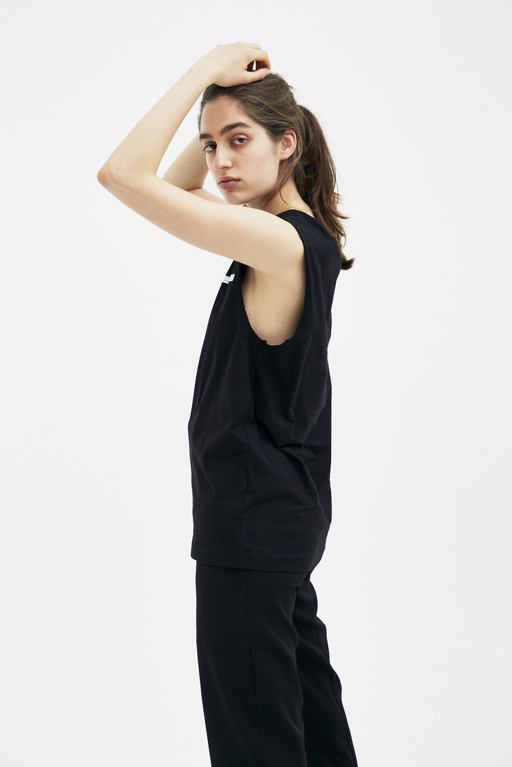 Helmut Lang by Shayne Oliver Black Tank Top new arrivals spring summer S/S 18 collection Machine SHOWstudio H10UW514 womens tops