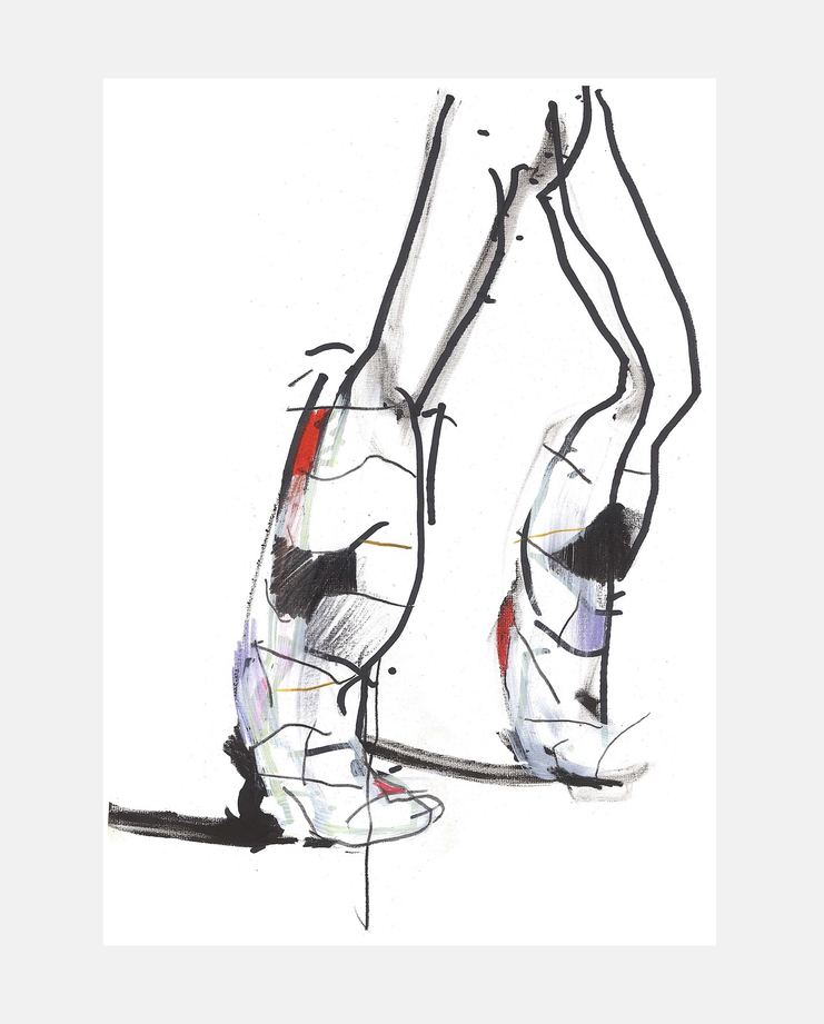 Christian Dior A/W 18, Petra Lunenburg, fashion illustration, showstudio