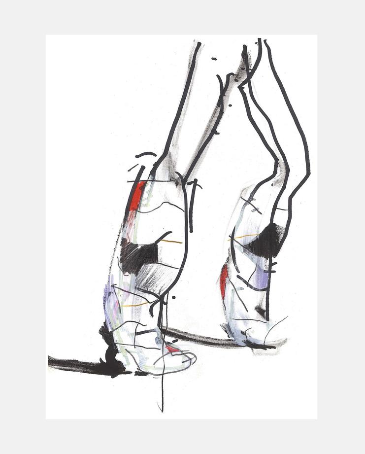 Christian Dior A/W 18, Petra Lunenburg, fashion illustration, showstudio