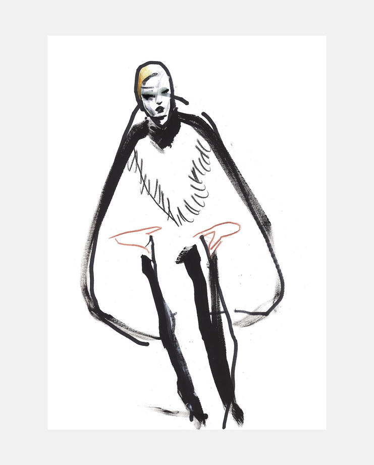 Saint Larent A/W 18, Petra Lunenburg, fashion illustration, showstudio