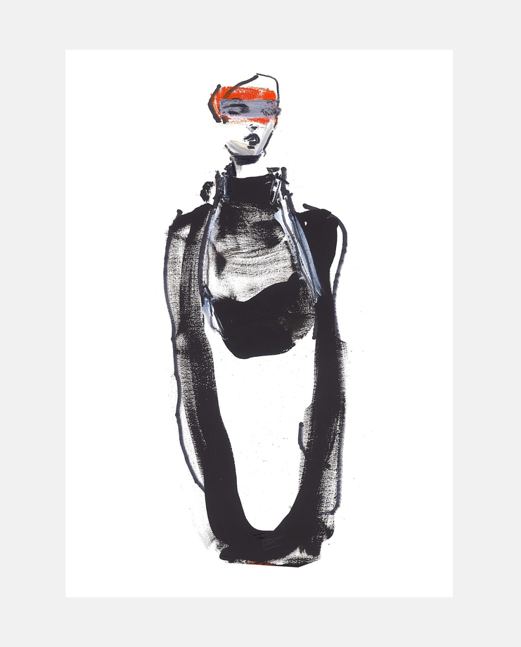 Lanvin A/W 18, Petra Lunenburg, fashion illustration, showstudio
