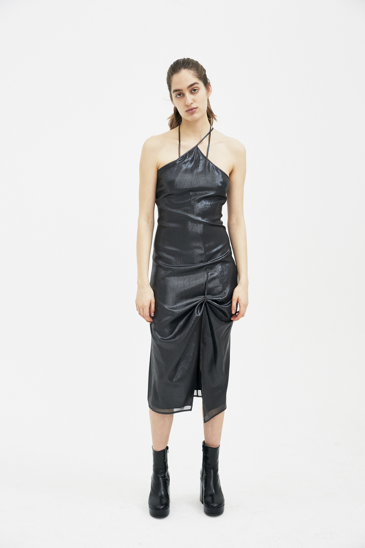 Helmut Lang by Shayne Oliver Silver grey Pulled Slip Dress I01CW618 new arrivals S/S 18 collection spring summer Machine A SHOWstudio womens dresses