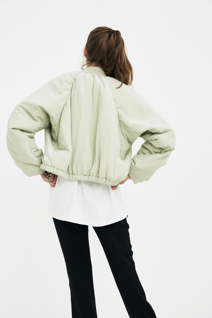 Hyein Seo Green Jewel Bomber Jacket S/S 18 spring summer collection machine a showstudio BL3GR new arrivals womens jackets