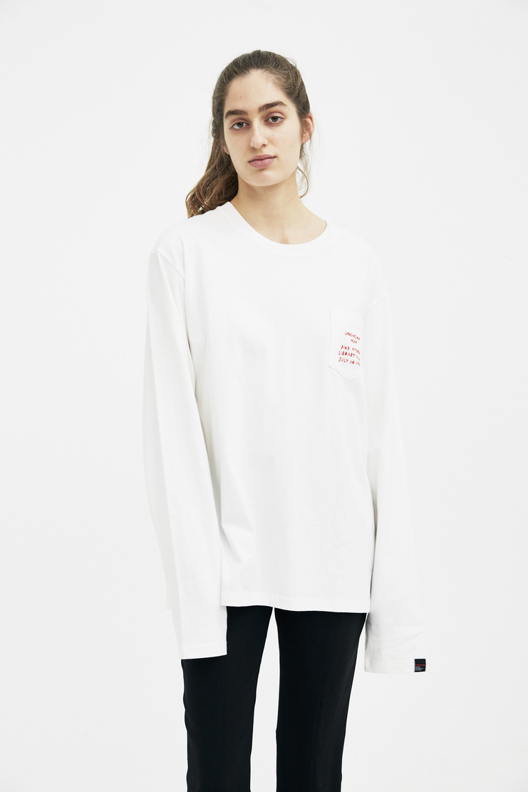 Hyein Seo White Long Sleeved Top S/S 18 spring summer new arrivals machine a showstudio TSW4 womens collection jumper sweater