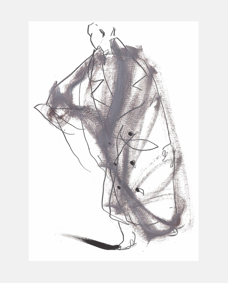 Y/Project A/W 18, Petra Lunenburg, fashion illustration, showstudio