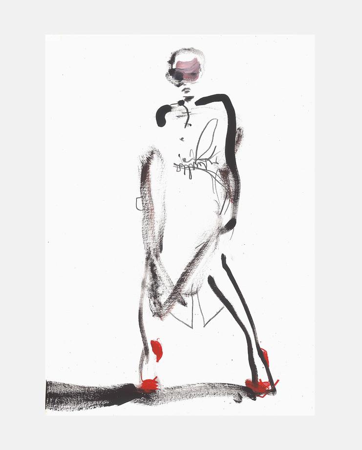 Andreas Kronthaler for Vivienne Westwood A/W 18, Petra Lunenburg, fashion illustration, showstudio