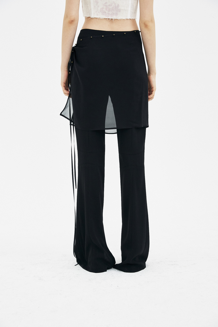 Hyein Seo Black Trousers with Scarf S/S 18 spring summer collection new arrivals machine a showstudio PT5W womens pants foulard