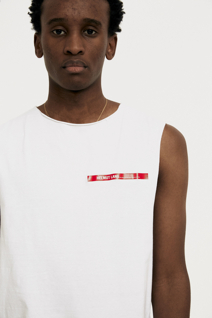 Helmut Lang by Shayne Oliver White Tank Top new arrivals spring summer S/S 18 collection Machine SHOWstudio H10UW514 womens tops