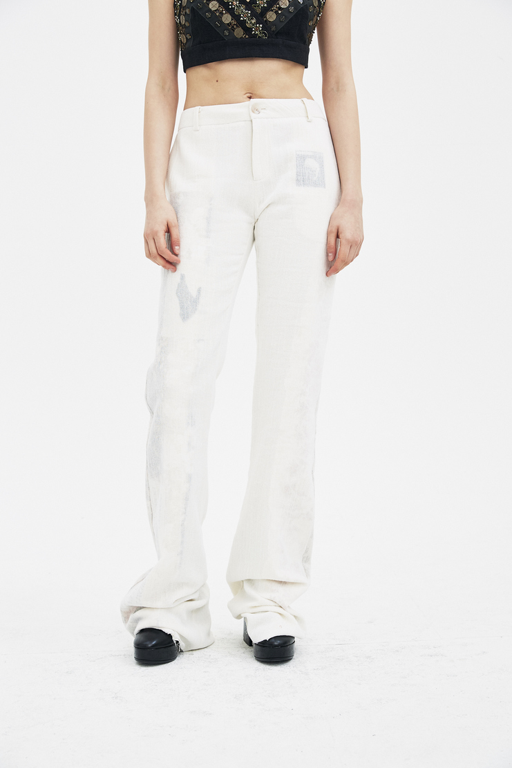 Hyein Seo White Layered Trousers S/S 18 spring summer collection new arrivals machine a showstudio PT5W womens pants foulard