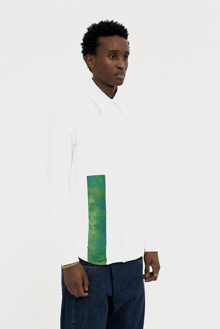 Namacheko Scraped Green Shirt s/s 18 spring summer 18 machine a showstudio new arrivals 01004CO