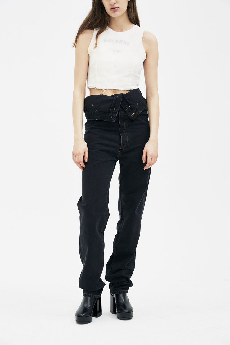 Y/Project Black Jeans PANT19-S14 new arrivals spring summer S/S 18 collection womens Machine A SHOWstudio pants jeans trousers