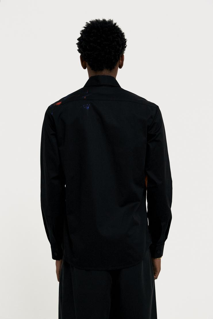NAMACHEKO Orange Painted Black Shirt s/s 18 spring summer 18 machine a showstudio new arrivals 01003CO