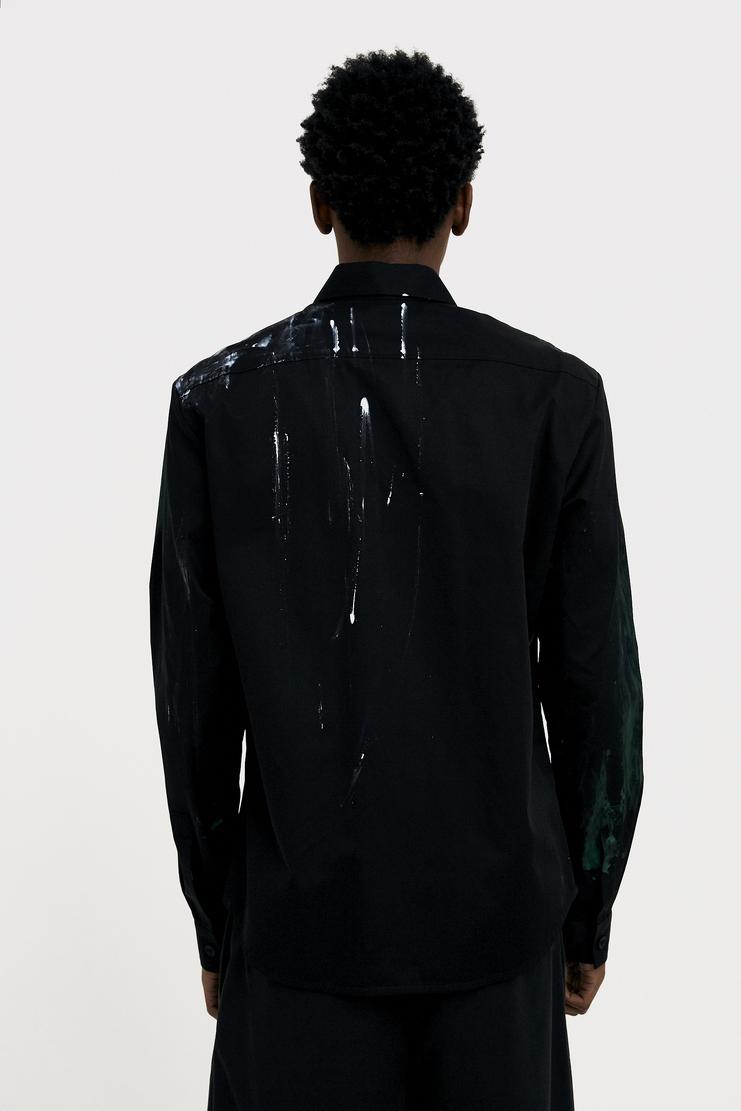 NAMACHEKO Green Painted Black Shirt s/s 18 spring summer 18 machine a showstudio new arrivals 01003CO