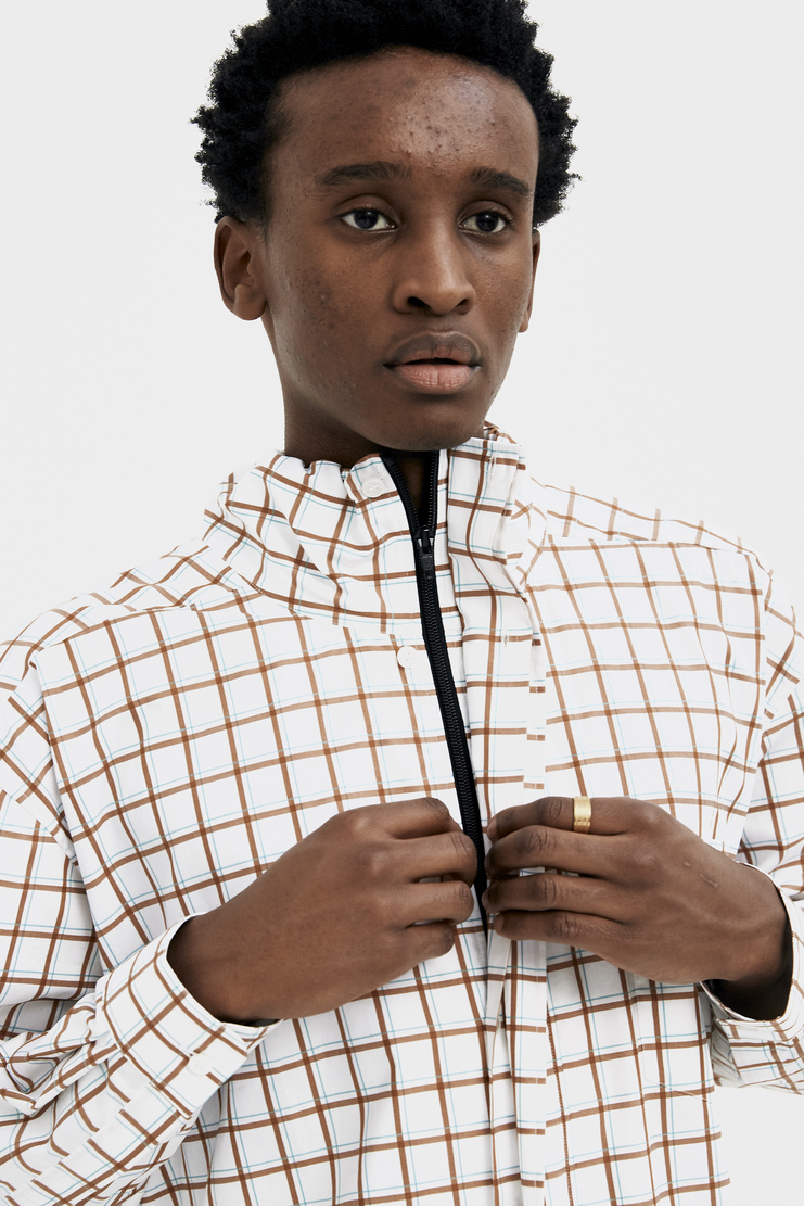 Martine Rose White Drawcord Shirt new arrivals S/S 18 spring summer collection SS18301 mens shirts Machine A SHOWstudio