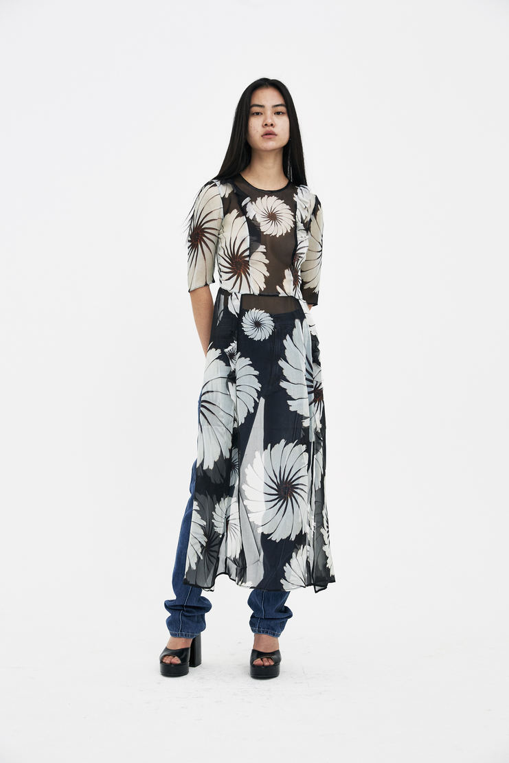DELADA Floral Apron Dress S/S 18 spring summer collection DWS3DR03 Machine A SHOWstudio womens dresses