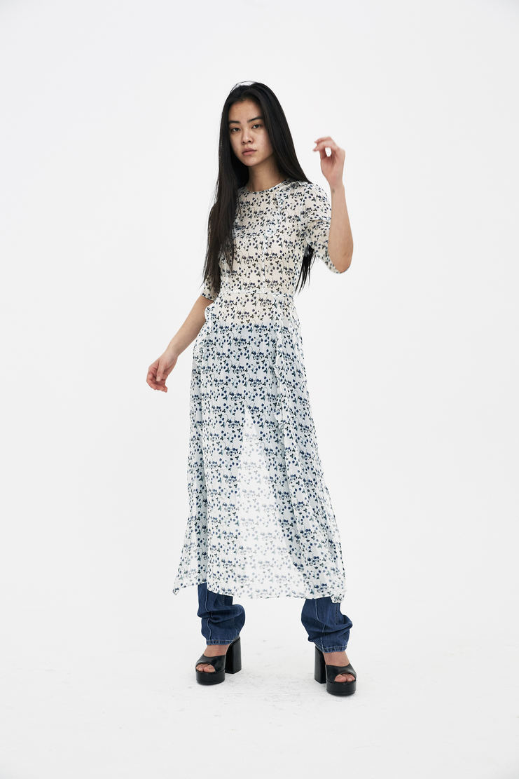 DELADA Straw Apron Dress S/S 18 spring summer collection DWS3DR03 Machine A SHOWstudio womens dresses