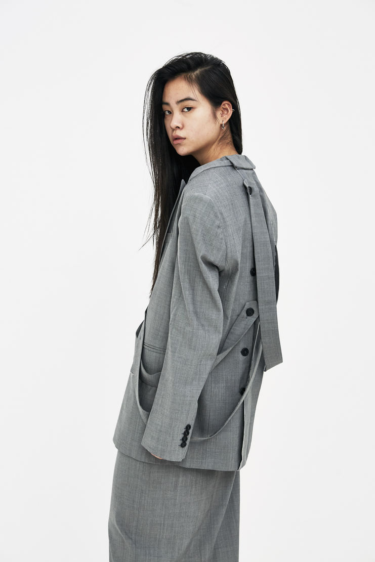 DELADA Grey Half Blazer S/S 18 spring summer collection DWS3BLZ02 Machine A SHOWstudio womens jackets