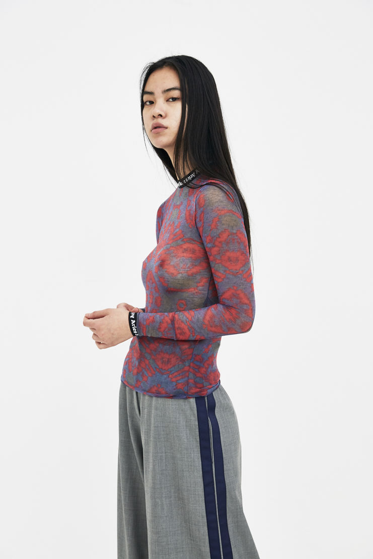 Aries Red and Navy Tie Dye Top new arrivals machine a showstudio s/s 18 spring summer SOAR00201