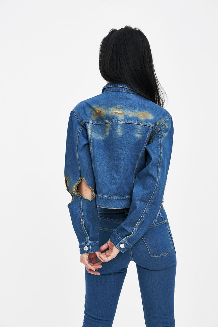 Ottolinger Blue Denim Jacket new arrivals SS18JA01 Machine A SHOWstudio S/S 18 spring summer collection womens jackets jeans jacket