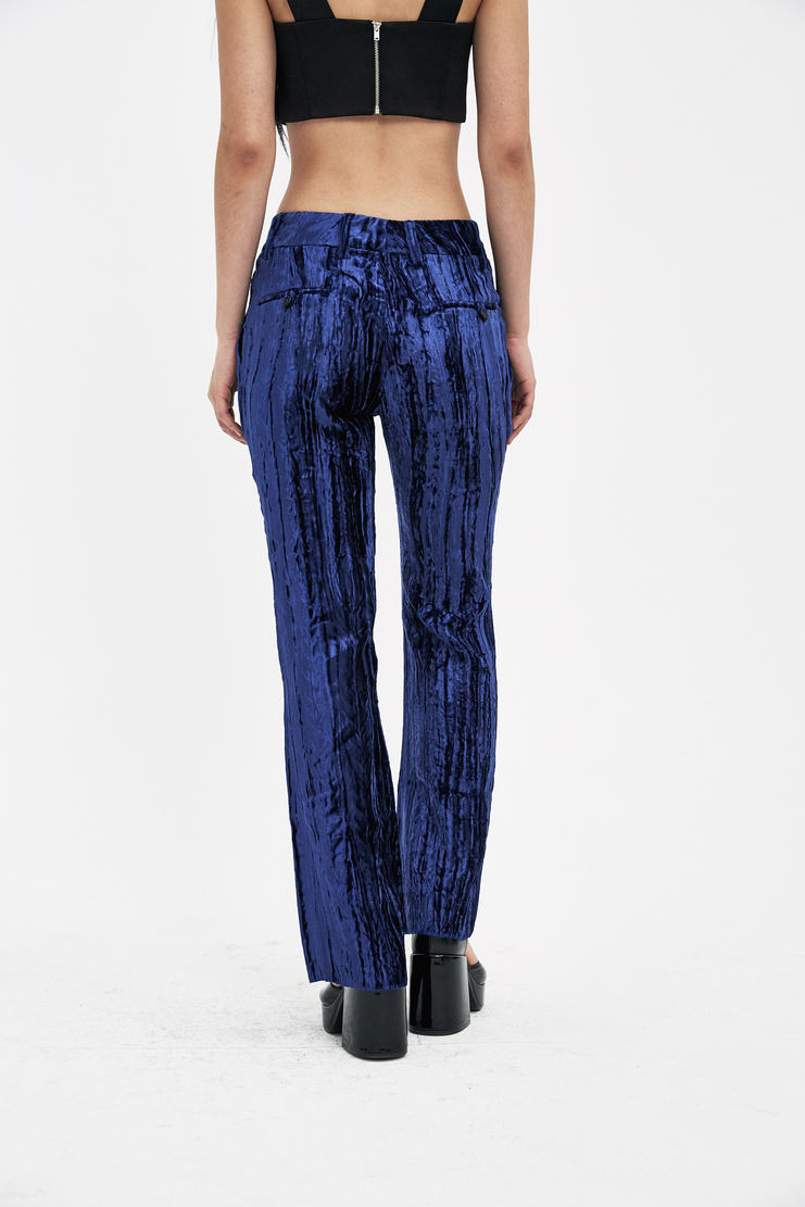 DELADA Blue Caribbean Suit Trousers S/S 18 spring summer collection DWS3TR02 Machine A SHOWstudio womens trouser pants
