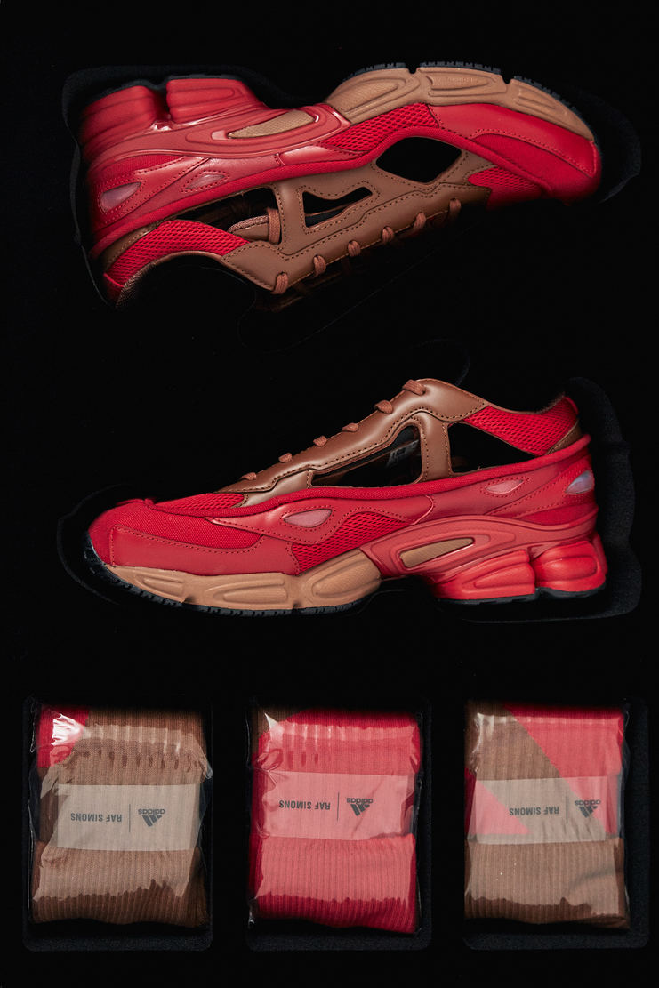 Adidas X Raf Simons Red and Rust Replicant Ozweego Ltd new arrivals machine a s/s 18 spring summer 2018 B22513