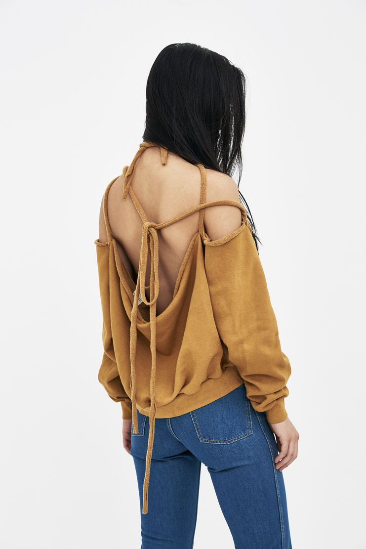 Ottolinger Mustard Halter Sweater Top new arrivals SS18SW07 Machine A SHOWstudio S/S 18 spring summer collection womens tops sweaters halter