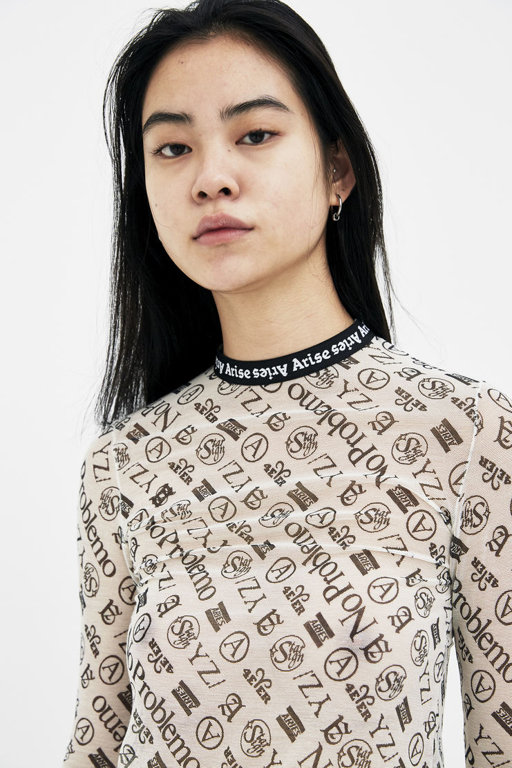 ARIES Natural Monogram Mesh Top arise spring summer collection S/S 18 Machine A SHOWstudio SOAR00001 womens tops