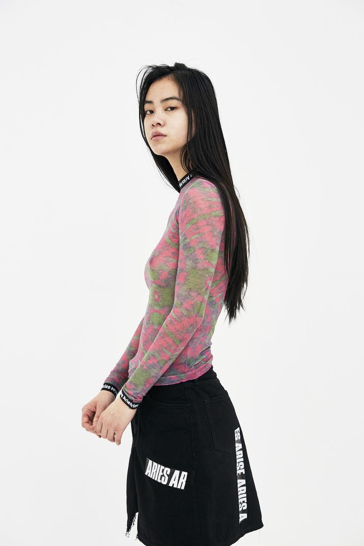 ARIES Aqua Pink Tye Dye Mesh Top arise spring summer collection S/S 18 Machine A SHOWstudio SOAR00202 womens tops