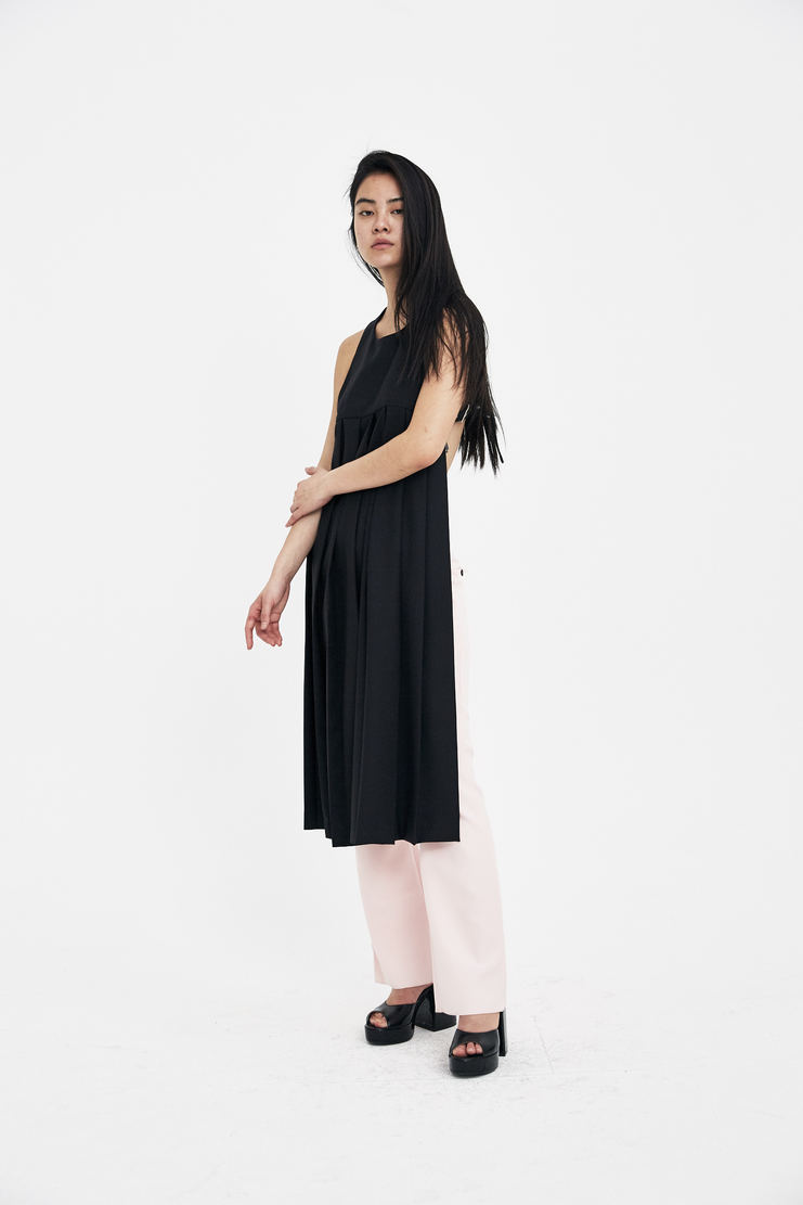 Noir Kei Ninomiya Black apron top pleated Dress new arrivals spring summer S/S 18 Machine A SHOWstudio dresses womens 3A-O007-S18