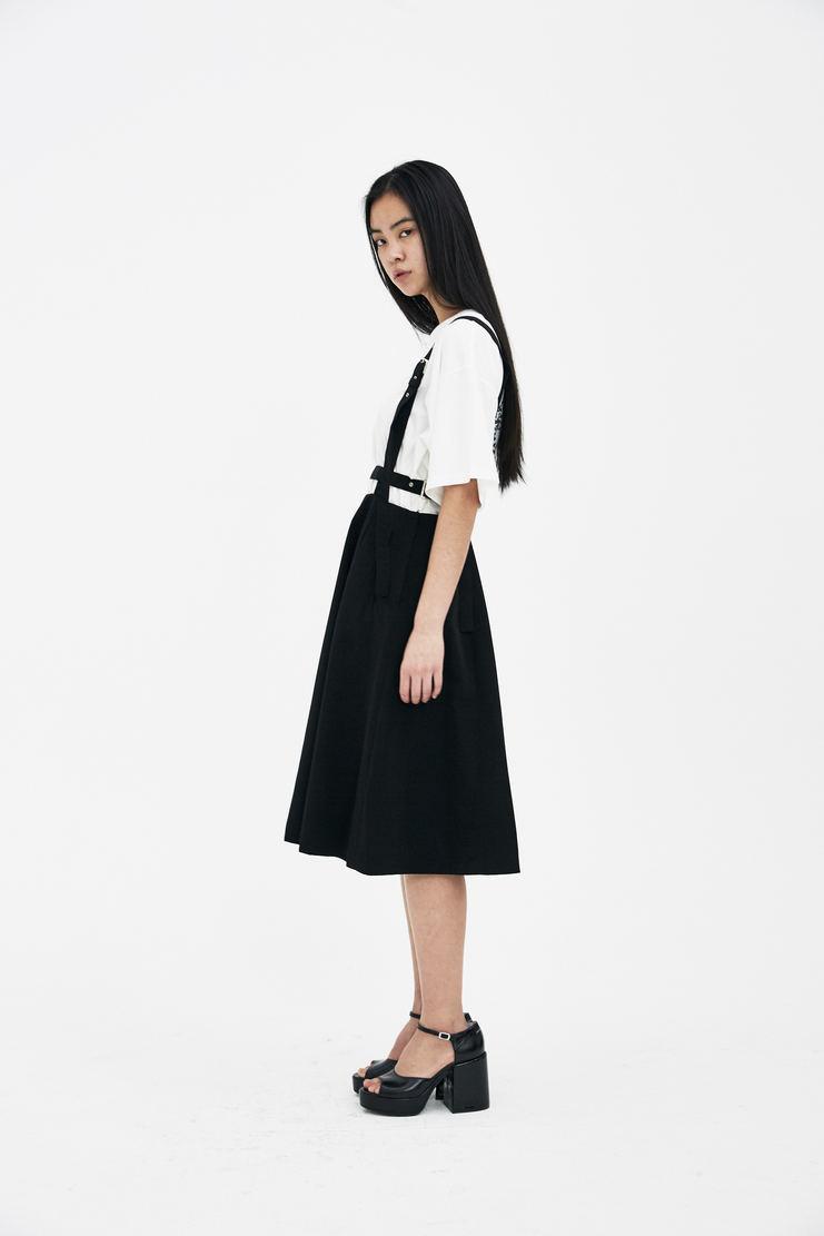 Noir Kei Ninomiya Black Jumper Skirt S/S 18 spring summer Machine A SHOWstudio new arrivals skirts womens 3A-A004-S18