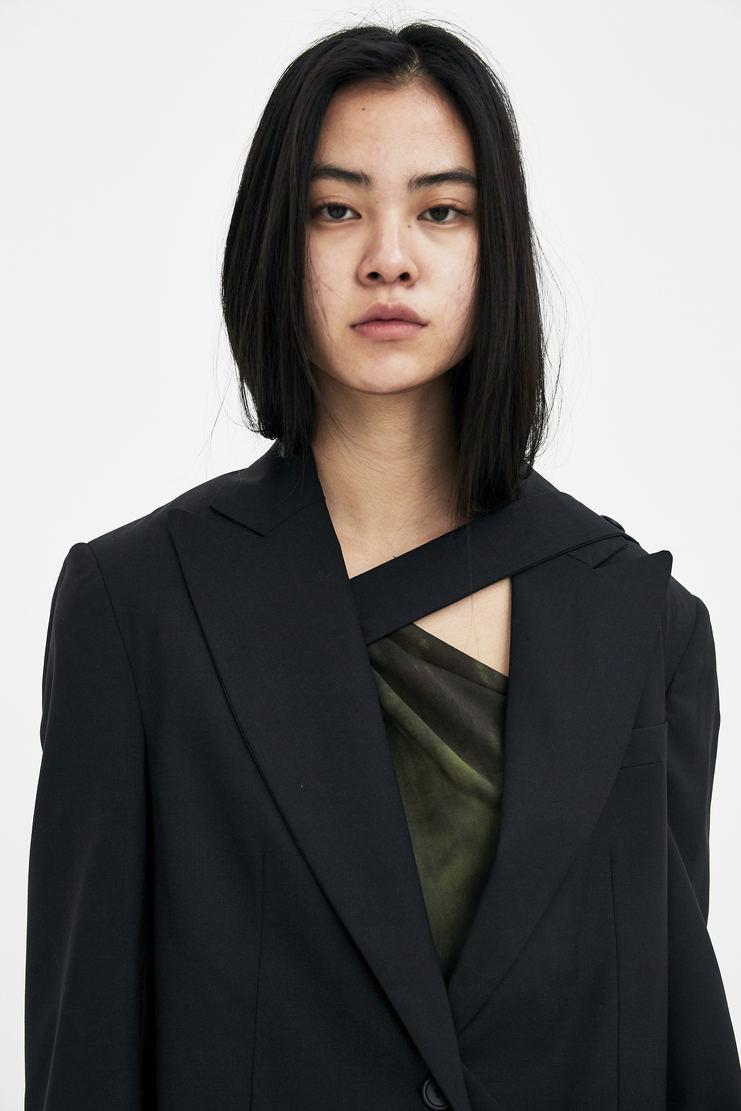 DELADA Black Half Blazer S/S 18 spring summer collection DWS3BLZ02 Machine A SHOWstudio womens jackets